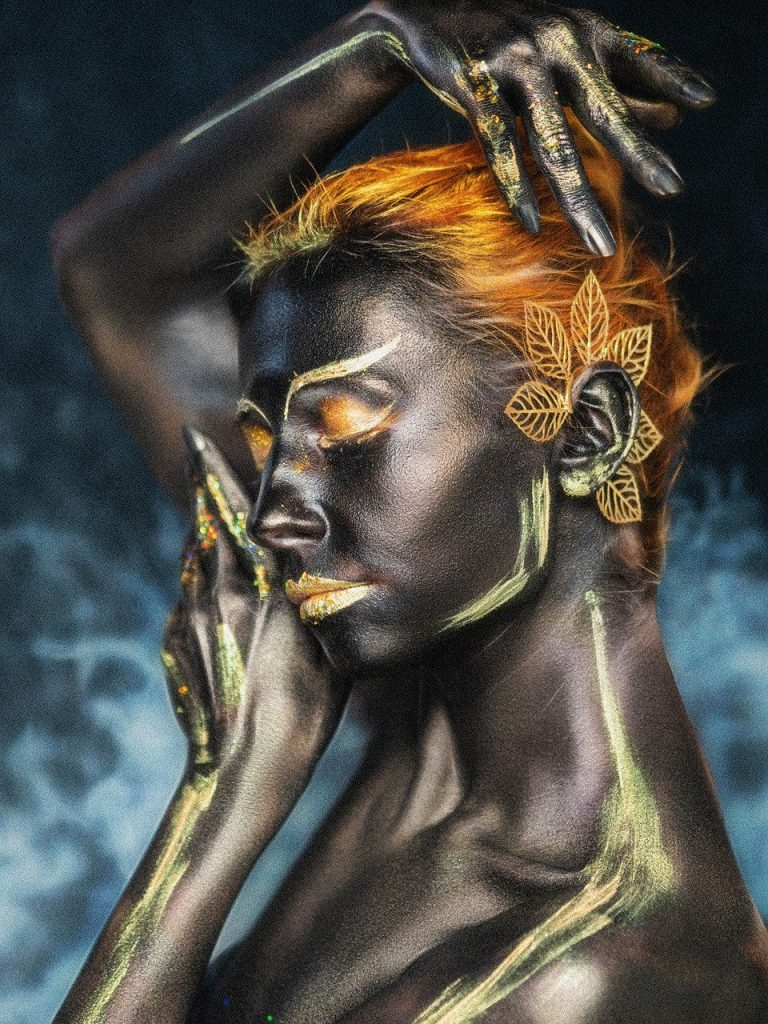 body painting, makeup, cosplay